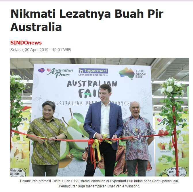 indonesia pear exports media delicious
